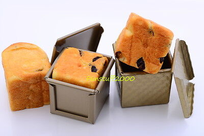 Pullman Tin Square Loaf Pan Mini-Cube Baking Mold Bread Mould, Choux Non-Stick