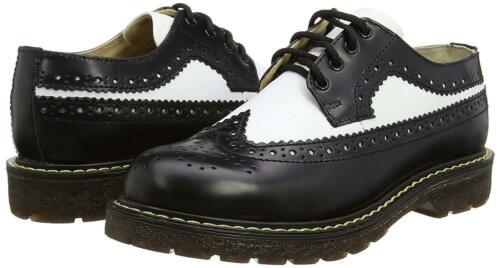 Shoes Black White Lace Brogue Leather Grinders Bertrum Up Unisex American Real paqqvwA