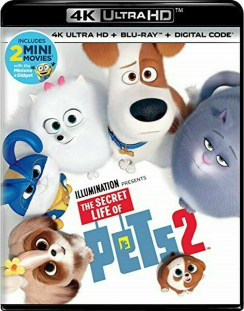 The Secret Life Of Pets 2 Blu-ray, 2019  - $4.20