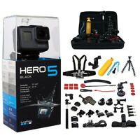 GoPro HERO5 Black Edition Ultra HD 4K Waterproof Wi-Fi Action Camera with 45pcs Mega Accessories Kit