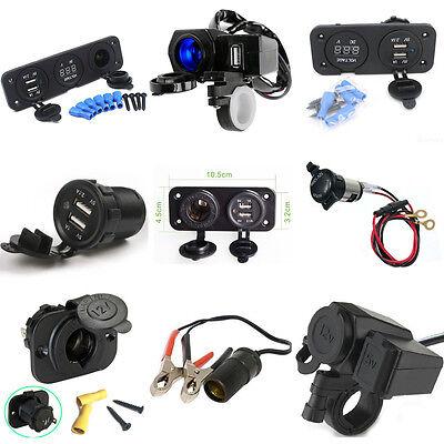 12V/24V USB Auto Motorrad KFZ Zigarettenanzünder Steckdose Ladegerät Adapter