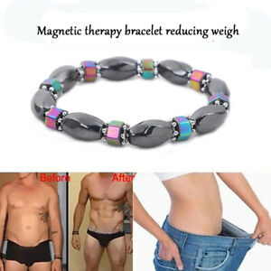 Magnetic Healing Bracelet Hematite Unique Bead Arthritis Pain Relief Weight Loss