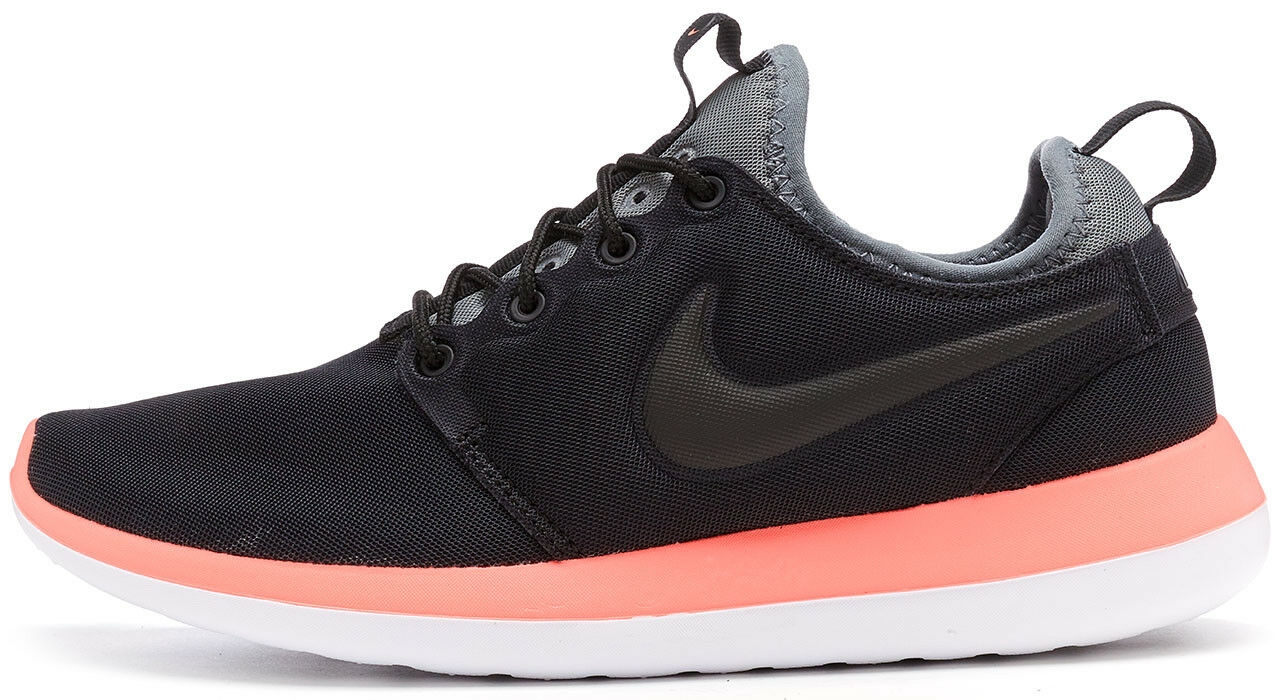 New in Box Nike Roshe Run Two  Trainers Black, orange & Grey 844931 006  UK 3.5