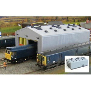 GAUGEMASTER-Fordhampton-Locomotive-Depot-Plastic-Kit-OO-Gauge-GM406