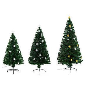 Albero Di Natale Fibra Ottica 180 Cm.Homcom Albero Di Natale Artificiale In Fibra Ottica Con Luci Led 120 150 180cm Ebay