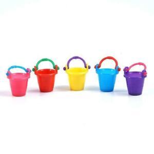 5pcs 1:12 DollHouse Miniature Mini Small Bucket Doll Toys House H8B2