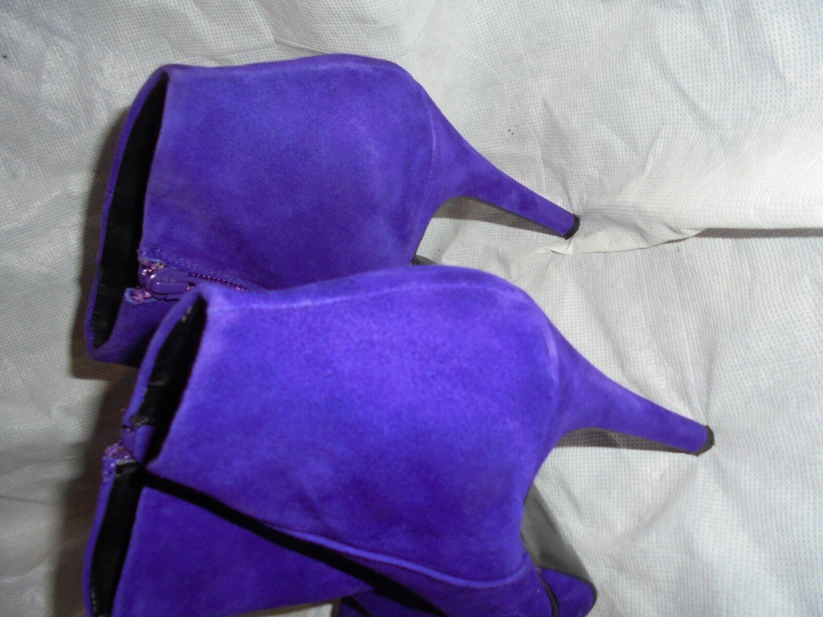 Oficina Para mujeres Cuero Cremallera Gamuza Índigo Cremallera Cuero Botín Talla UK 5 EU 38 en muy buena condición 19a945