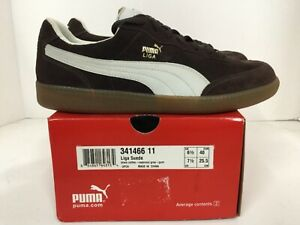 Details about Puma Liga Suede Mens sneaker Style# 341466 11 Size 7.5 black coffee/grey
