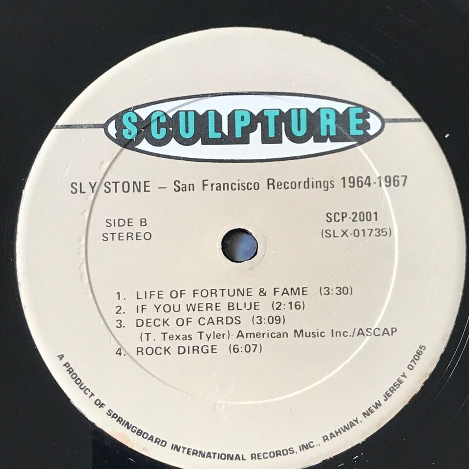 LP, Sly Stone, Recorded In San Francisco 1964-67