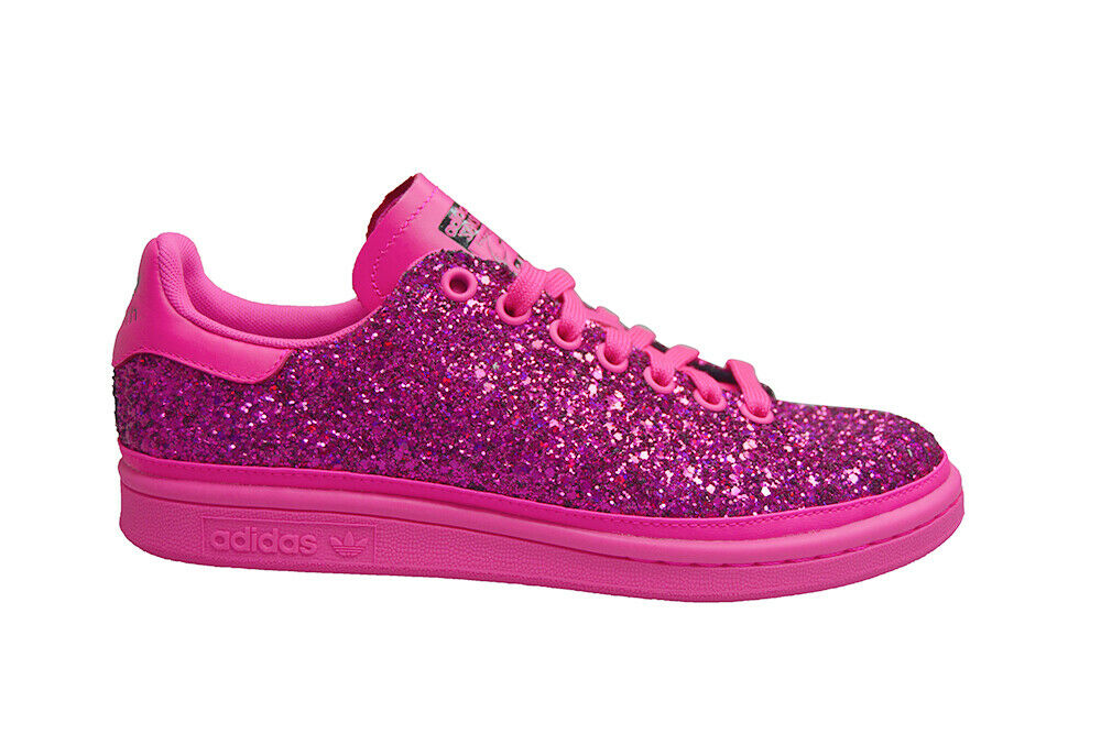 women Adidas Stan Smith con - Bd8058 - pink Impactante Purpurina