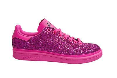 Femmes adidas Stan Smith W BD8058 Lacet Rose Paillette