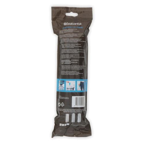 Brabantia Poubelle Set 9x 20 pcs sacs poubelle Code F 20 L Slim déchets sachet