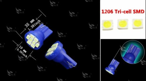 10x Aqua Ice Blue T10 Wedge 8 LED Bulbs For Car License Plate Light 168 194 2825