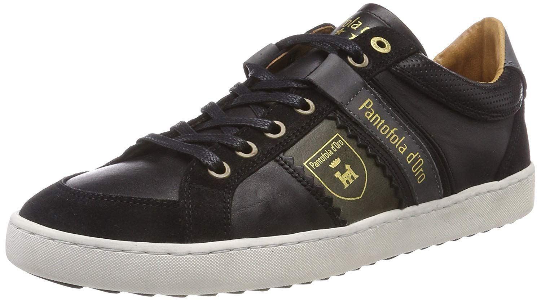Pantofola d'Ora Savio Uomo Low Black Mens Leather Trainers
