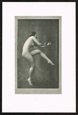 1910's Vintage Nude Dancer Arnold Genthe Pictorialist Dance Photo Print d