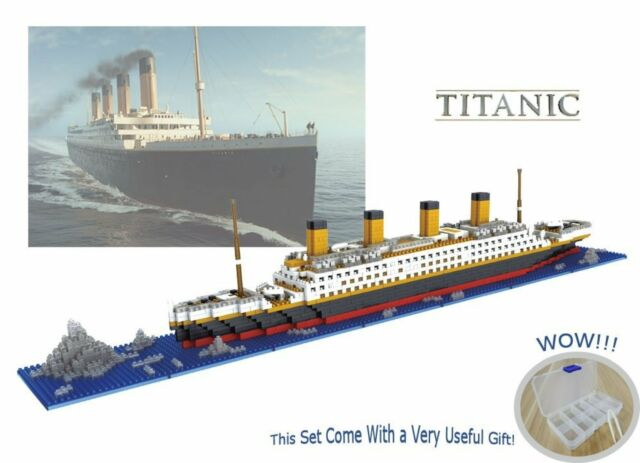 Sanzo The Titanic Model Micro Block Build Set 1860pcs - Nano Micro Diamond Block