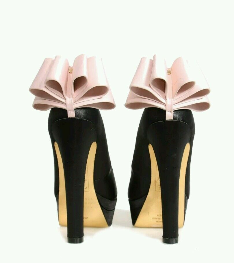 TED origami BAKER Satin origami TED  Bow platform schuhe aabc2a