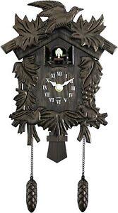 Acctim Hamburg Cuckoo Wall Clock Quartz Pendulum Movement Volume Control Silence