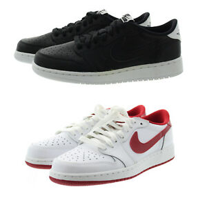 87115d899dab8e Nike 709999 Kids Youth Boys Air Jordan 1 Low Top Leather Shoes ...