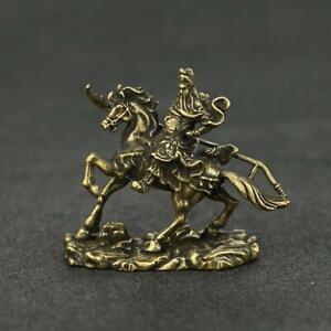 Chinese-Brass-Guan-Gong-Buddha-Statue-Guanyu-General-Lucky-Xmas-Gifts-Good-Luck