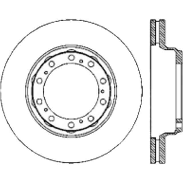 Disc Brake Rotor Premium Disc Preferred Rear Centric 120 80012