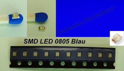 10 trozo de LED SMD 0805 azul c2868