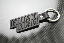 Fiat 126 Cuero KEYRING LLAVERO SCHLÜSSELRING Porte-clés bis Abarth personal 4