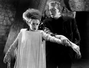 1935 THE BRIDE OF FRANKENSTEIN BLACK AND WHITE 8x10 classic PHOTO 2Y !!!