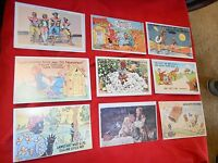 Outstanding Collectible Set of 9 Vintage Comical POSTCARDS ..Not used !-Set #2