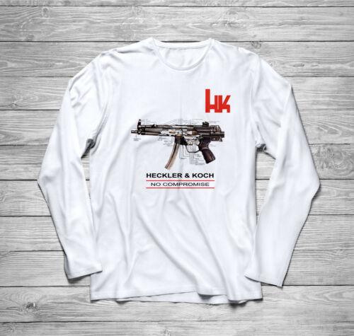HK Heckler and Koch Firearms Sniper Long Sleeve T-Shirt size S-3XL