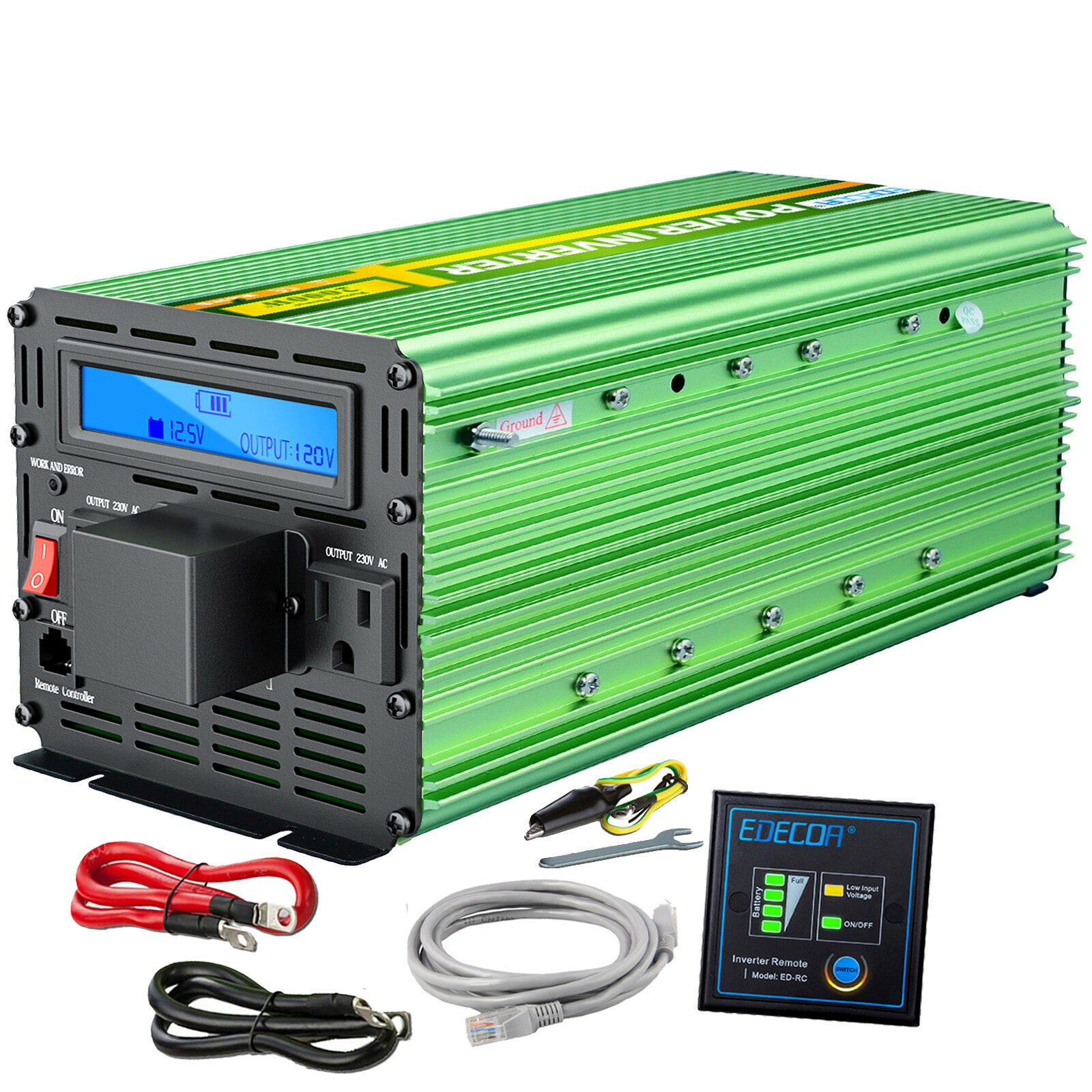 Simple Low Power Inverter To Convert 12v Dc 120v Ac How Much Edecoa 3000 Watt 6000w Lcd Cables Norton Secured Powered By Verisign