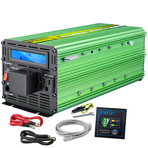 Edecoa 3000 watt 6000w power inverter 12v dc to 110v 120v ac lcd image is loading edecoa 3000 watt 6000w power inverter 12v dc publicscrutiny Gallery