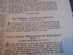 1900-1918 Ratskeller Linden Rathaus Zeitschriften Mutig 1902 Baugewerkszeitung 14