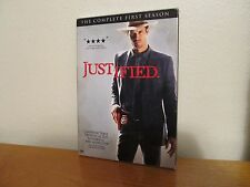 JUSTIFIED Complete First Season - 3 Disc DVD Box Set - I combine shipping