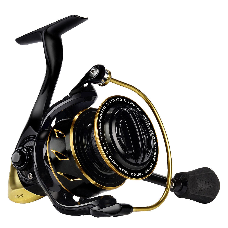 KastKing Sharky III gold Spinning Reel Zero-Flex Aluminum Body Fishing Reel