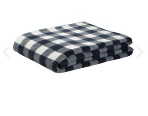 BxL Grey//White Atlas Gastro Blanket Vichy Karo 130x170cm