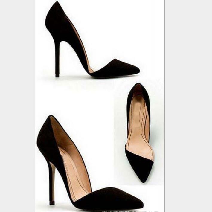 Chaussures femmes Pointu Escarpins Stiletto Pantoufles Super High Heel Couleur Unie boîte de nuit