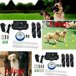Dog-PET-Electronic-Fence-System-With-1-2-3-Waterproof-Shock-Collars