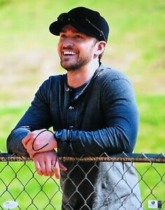 Justin-Timberlake-Signed-Autographed-11X14-Photo-Sexy-Smiling-Fence-JSA-T48136