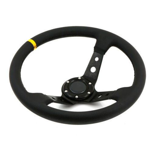 350mm Deep Dish Steering Wheel Drift Track Race Street PVC fits OMP HUB