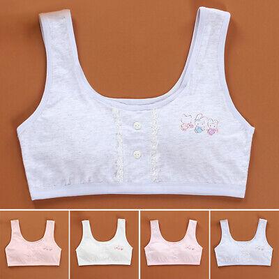 Girls Sport Bra Seamless bra Children Lace Cotton Padded Crop top 22.8-23.6inch