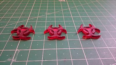 Star Wars X Wing Miniatures Token x3 Ion Crytical Pink Transparent