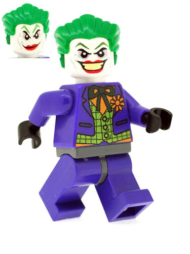 Custom Designed Minifigure Joker in Purple Suit Printed On LEGO Parts
