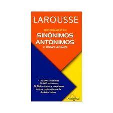 Diccionario de Sinónimos, Antónimos, e Ideas Afines by Gloria Fuentes and Aaron Alboukrek (2002, Paperback)