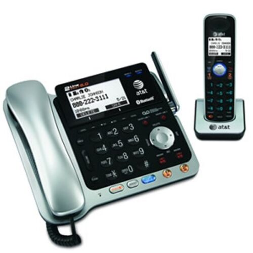 AT/&T 2-line TL86109 DECT 6.0 Corded Cordless Answering Bluetooth /& Speakerphone