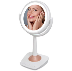 QFX R-72 Lighted LED Mirror & Wireless Speaker