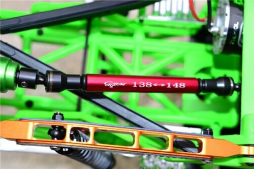 GPM Racing Axial SMT10 Black Aluminum Steel Center Driveshaft Set MJ237SA-BK