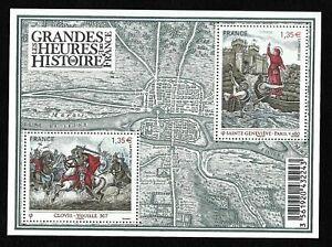 Bloc-Feuillet-2012-N-F4704-Timbres-Les-Grandes-Heures-de-l-039-Histoire-de-France