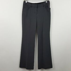 Express Editor Charcoal/Gray Relaxed Women's Career Dress Pants Sz 4 - 28 x 33