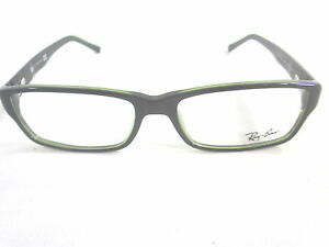 05d871935b Image is loading RAY-BAN-RX5169-2383-RECTANGLE-EYEGLASSES-BLACK-GREEN-